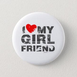 I Love My Girlfriend Vintage Valentines Day heart Button