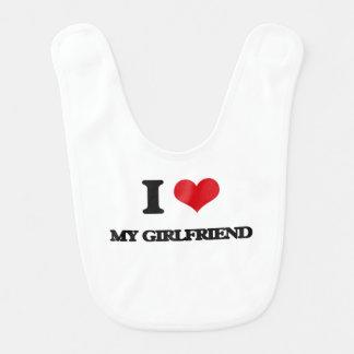 I Love My Girlfriend Baby Bibs