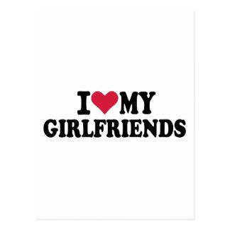 I love my girlfriends post card