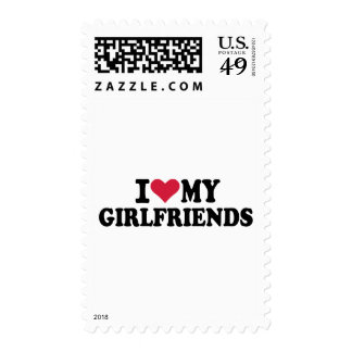 I love my girlfriends postage stamp