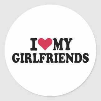 I love my girlfriends sticker