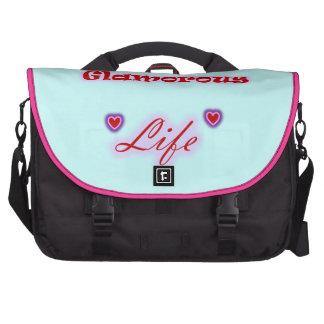 I Love My Glamorous Life Hearts Computer Bag