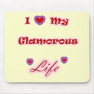 I Love My Glamorous Life Hearts Mousepad