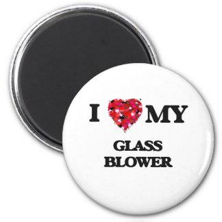 I love my Glass Blower 2 Inch Round Magnet