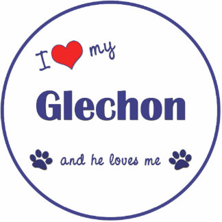 I Love My Glechon (Male Dog) Cutout
