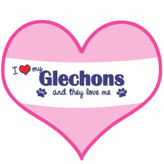 I Love My Glechons (Multiple Dogs) Cutout