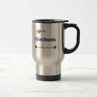I Love My Glechons (Multiple Dogs) Travel Mug