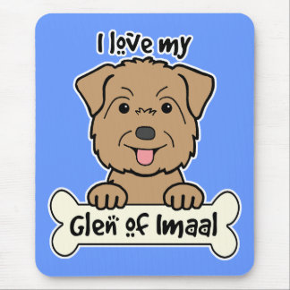 I Love My Glen of Imaal Mouse Pad