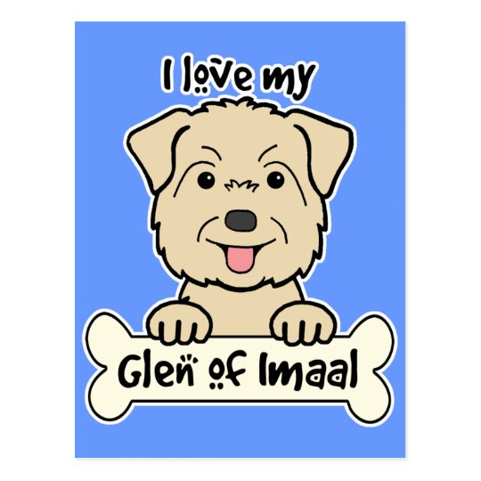 I Love My Glen of Imaal Postcard