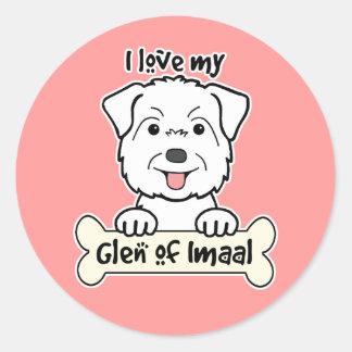 I Love My Glen of Imaal Stickers