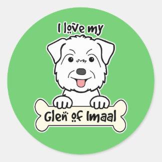I Love My Glen of Imaal Sticker