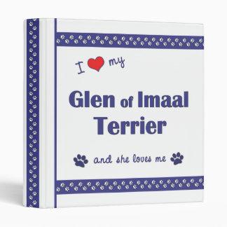 I Love My Glen of Imaal Terrier (Female Dog) 3 Ring Binder