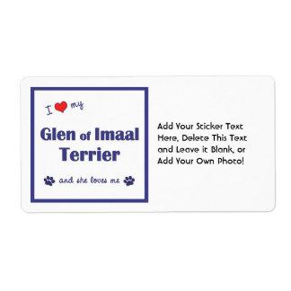 I Love My Glen of Imaal Terrier (Female Dog) Custom Shipping Label