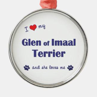 I Love My Glen of Imaal Terrier (Female Dog) Ornament