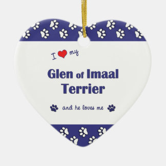 I Love My Glen of Imaal Terrier (Male Dog) Christmas Ornaments