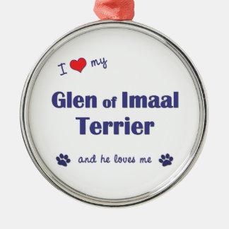 I Love My Glen of Imaal Terrier (Male Dog) Christmas Ornament