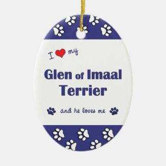 I Love My Glen of Imaal Terrier (Male Dog) Ornament