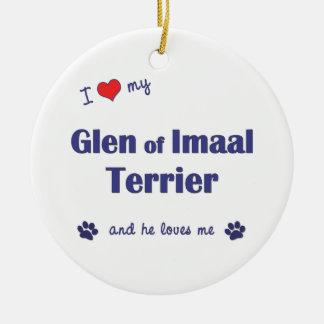 I Love My Glen of Imaal Terrier (Male Dog) Ornaments