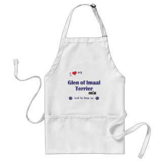 I Love My Glen of Imaal Terrier Mix (Male Dog) Adult Apron