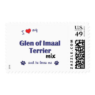 I Love My Glen of Imaal Terrier Mix (Male Dog) Postage