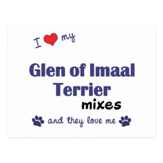 I Love My Glen of Imaal Terrier Mixes (Multi Dogs) Postcard