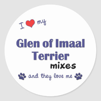 I Love My Glen of Imaal Terrier Mixes (Multi Dogs) Round Stickers