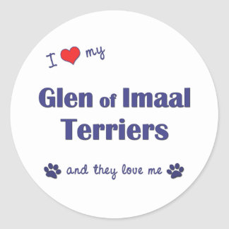 I Love My Glen of Imaal Terriers (Multiple Dogs) Classic Round Sticker