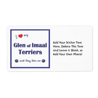 I Love My Glen of Imaal Terriers (Multiple Dogs) Personalized Shipping Labels