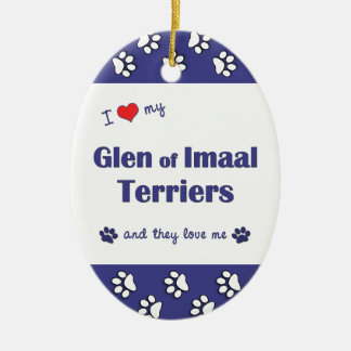 I Love My Glen of Imaal Terriers (Multiple Dogs) Ornament