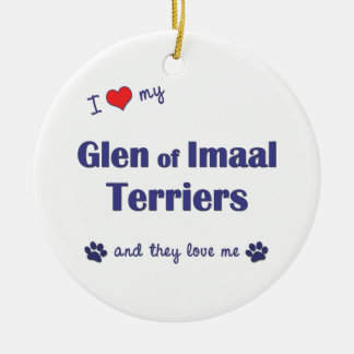 I Love My Glen of Imaal Terriers (Multiple Dogs) Christmas Tree Ornament