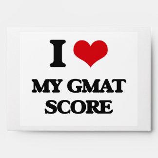 I Love My Gmat Score Envelopes