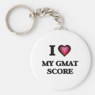I Love My Gmat Score Keychain