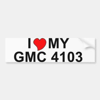 I Love My GMC 4103 Bumper Stickers
