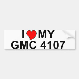 I Love My GMC 4107 Bumper Stickers