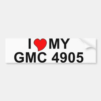 I Love My GMC 4905 Bumper Stickers