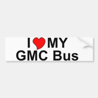 I Love My GMC Bus Bumper Sticker