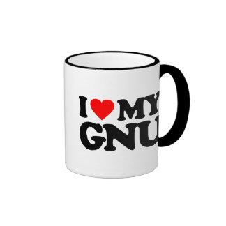 I LOVE MY GNU MUG
