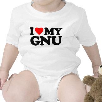 I LOVE MY GNU T-SHIRT