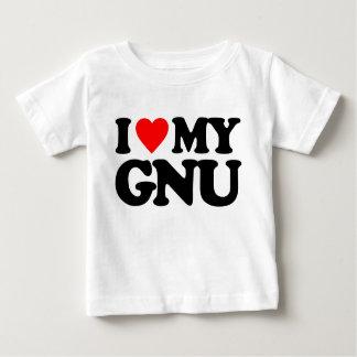 I LOVE MY GNU INFANT T-SHIRT