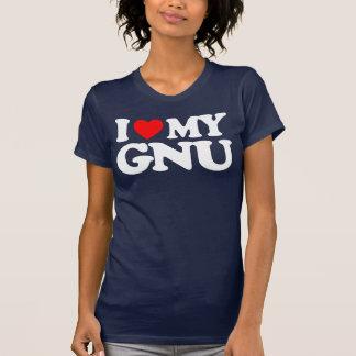 I LOVE MY GNU T SHIRT