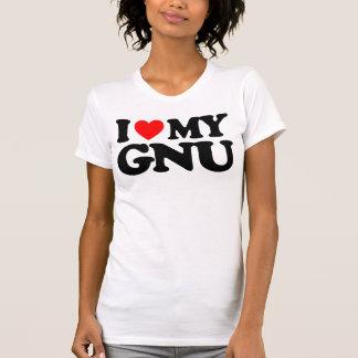 I LOVE MY GNU T SHIRTS