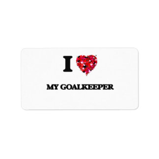 I Love My Goalkeeper Address Label