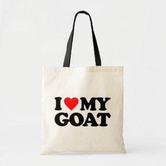 I LOVE MY GOAT BUDGET TOTE BAG