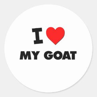 I Love My Goat Classic Round Sticker