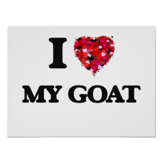 I Love My Goat Poster