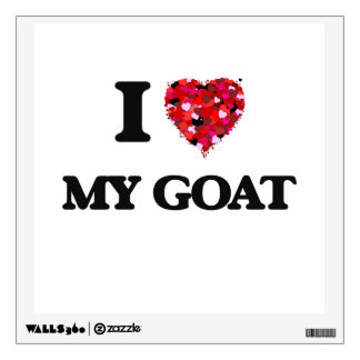 I Love My Goat Wall Graphic