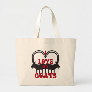 I Love My Goats Jumbo Tote Bag