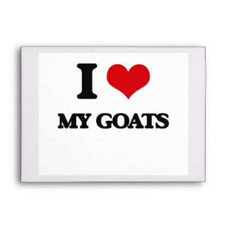 I Love My Goats Envelope