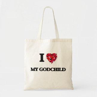 I Love My Godchild Budget Tote Bag