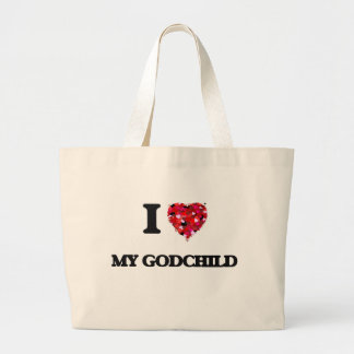 I Love My Godchild Jumbo Tote Bag